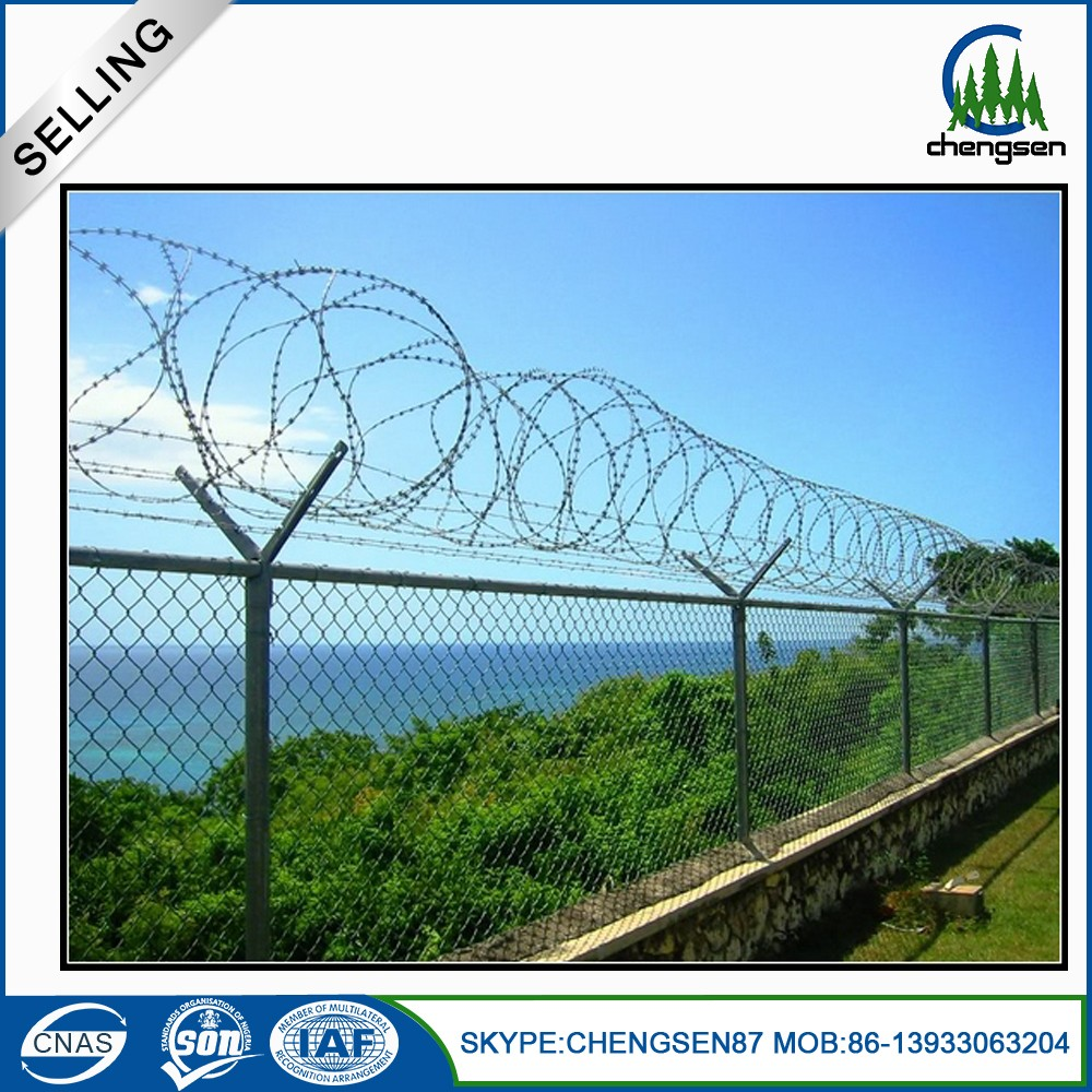 Customized chain link fence used square tube fence mounting brackets