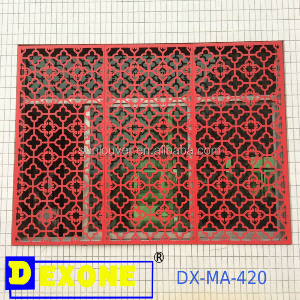 Metal carved decoration window grates , window guard
