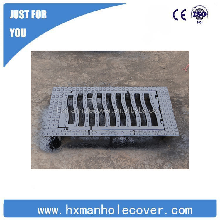 Hign quality anti subsidence Trench Drain cover /Cast Iron Gully Grating