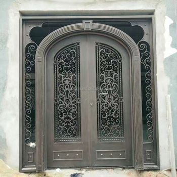 cheap price boundary wall gate design iron exterior doors