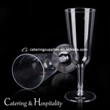 wholesale Disposable Wedding party hard ps plastic 150 ml champagne tulip shaped wine glass,plastic airline thick stem cups