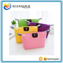 yiwu factory supply cheap travel plain nylon cosmetic bag