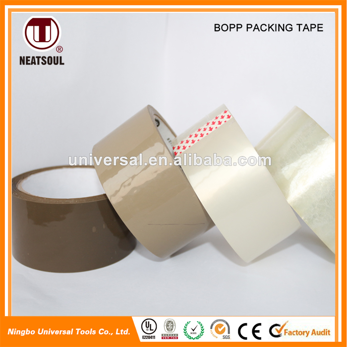Strong adhesive carton sealing famous product hot melt bopp packing tape