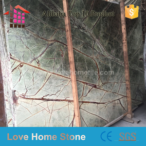 rainforest Green Marble Slabs & Tiles, India Green Marble,Honed Marble