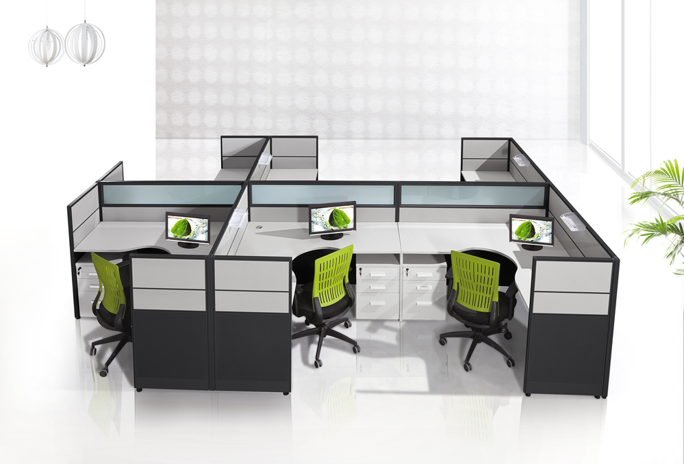 Office call center furniture cubicles decoration wall wood for Cubiculos de oficina
