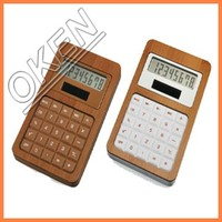 Desktop Style Desk Calculator top quality bamboo wooden calculator from china