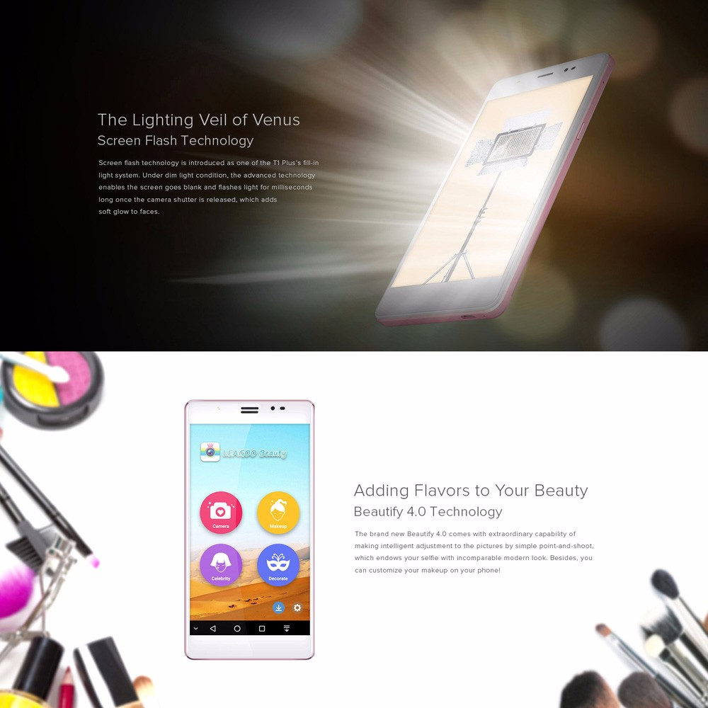 original Leagoo T1 Plus mobile phone dual sim 4g 5.5inch Android 6.0 MTK6737 Quad Core 3GB RAM 16GB ROM 13.0 MP Fingerprint ID