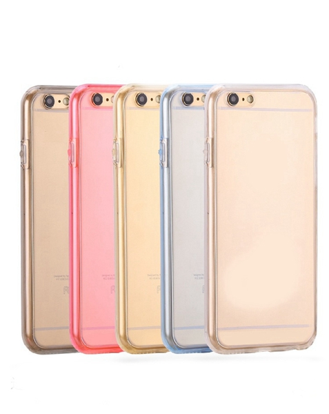 For iphone 7 Case TPU Transparent Case 360 Degree Full Protective Soft TPU Silicon Cover Case Front Back