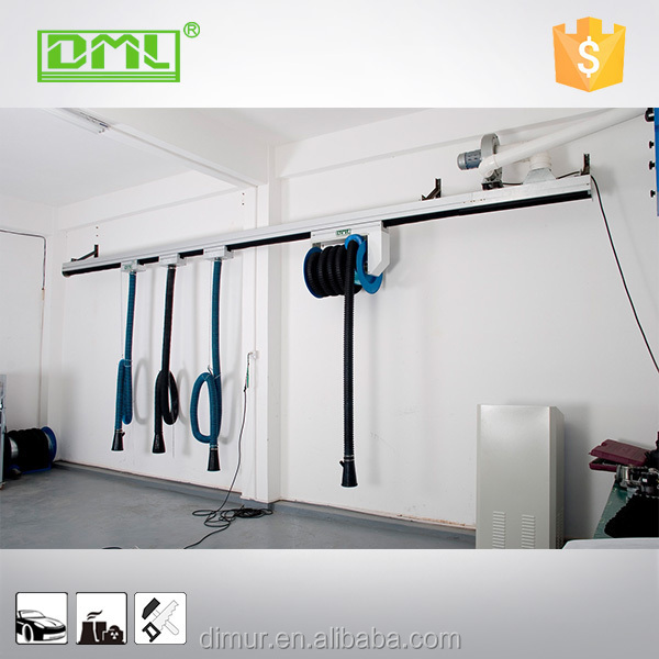 Exhaust Extraction System Slide Hose Reel automotive beauty central dust collection system
