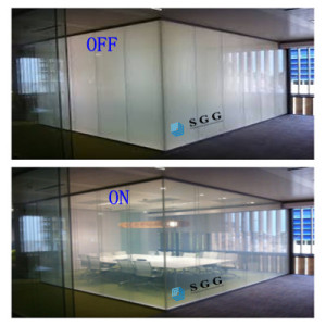 China factory privacy magic switchable electric PDLC smart laminated glass price