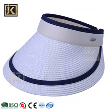 JAKIJAYI good quality custom design summer ladies sun straw hat visor