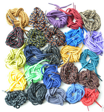 Wholesale outdoor climbing round shoeslace, sport shoeslace 1.2 meters