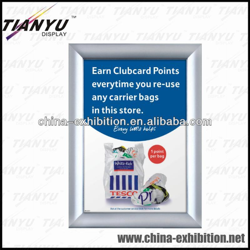 30mm wide curved shape profile aluminum display frame