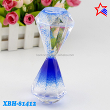 New Color Trends Acrylic Diamond shape Liquid Oil Timer for Lady Gifts