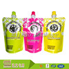Leak Proof Custom Design Different Colors Printed Plastic Standup Spouted Fruit Juice Doypack