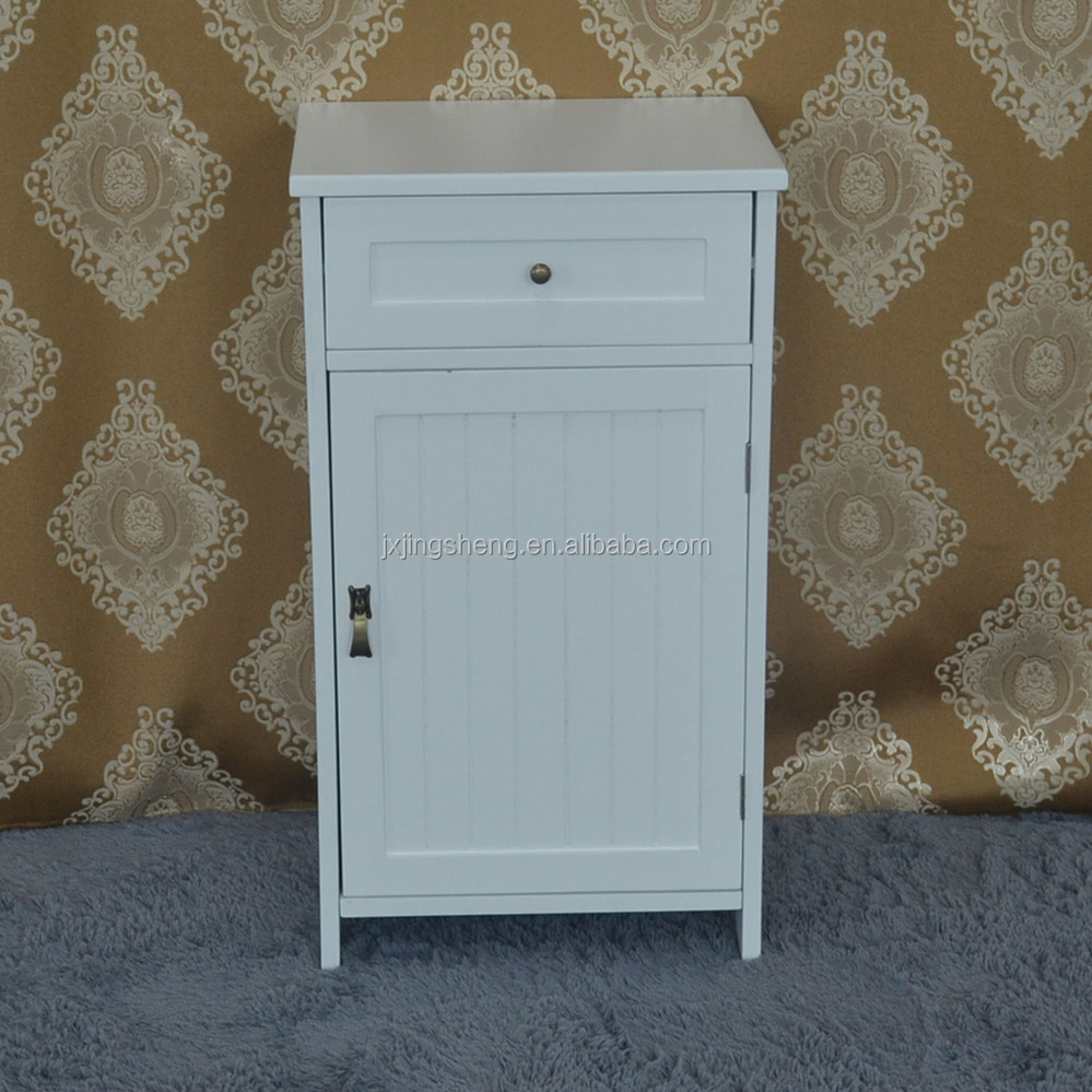 Modern design rubber wooden white drawer bathroom cabinet, used bathroom vanity cabinets