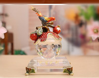 Crystal character sculpture of the study of Chinese style household furnishing articles crystal figurines gifts