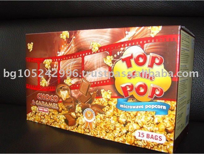 Popular Snack Top of the Pop Smart Snack Microwave Popcorn