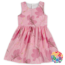 Baby Frock Design Ball Gown Dress Pictures Flower Printed Kids Wear Clothing Children Wedding Dresses