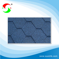 2016 fashionable green roofing hexagonal asphalt shingle roll