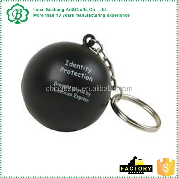 Round Stress Ball Keychain stress reliever these round key chains
