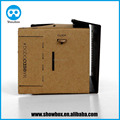high quality custom logo googlge cardboard v1.0 supplier adjustable google cardboard 1.0