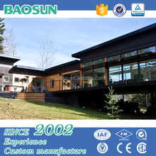 China manufacturing prefabricated modern luxury villa/hotel with wood/light gauge steel
