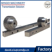 C45 straight teeth rack gear and pinion for CNC machinery