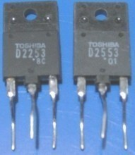 [ E] brothers imported raw word disassemble D2253 TV line output transistor