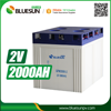 Bluesun good quality lead acid 2 volt 2000ah battery with ISO CE ROHS Certificate