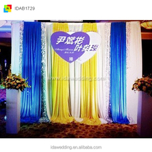 ice silk party curtain/fancy cheap wedding stage backdrop decoration/wedding mandap new design