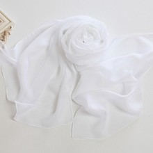 Promotional Gifts Plain White Silk Scarf