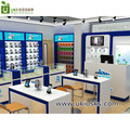 high end mobile phone shop interior furniture design with phone display stand for sale