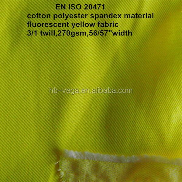 8 OZ High Visibility - Fluorescent Yellow Twill Fabric for Safety