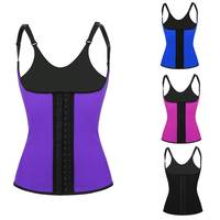 Top Selling Steel Bone latex waist training corsets slimming underwear Women full body stomach shaper