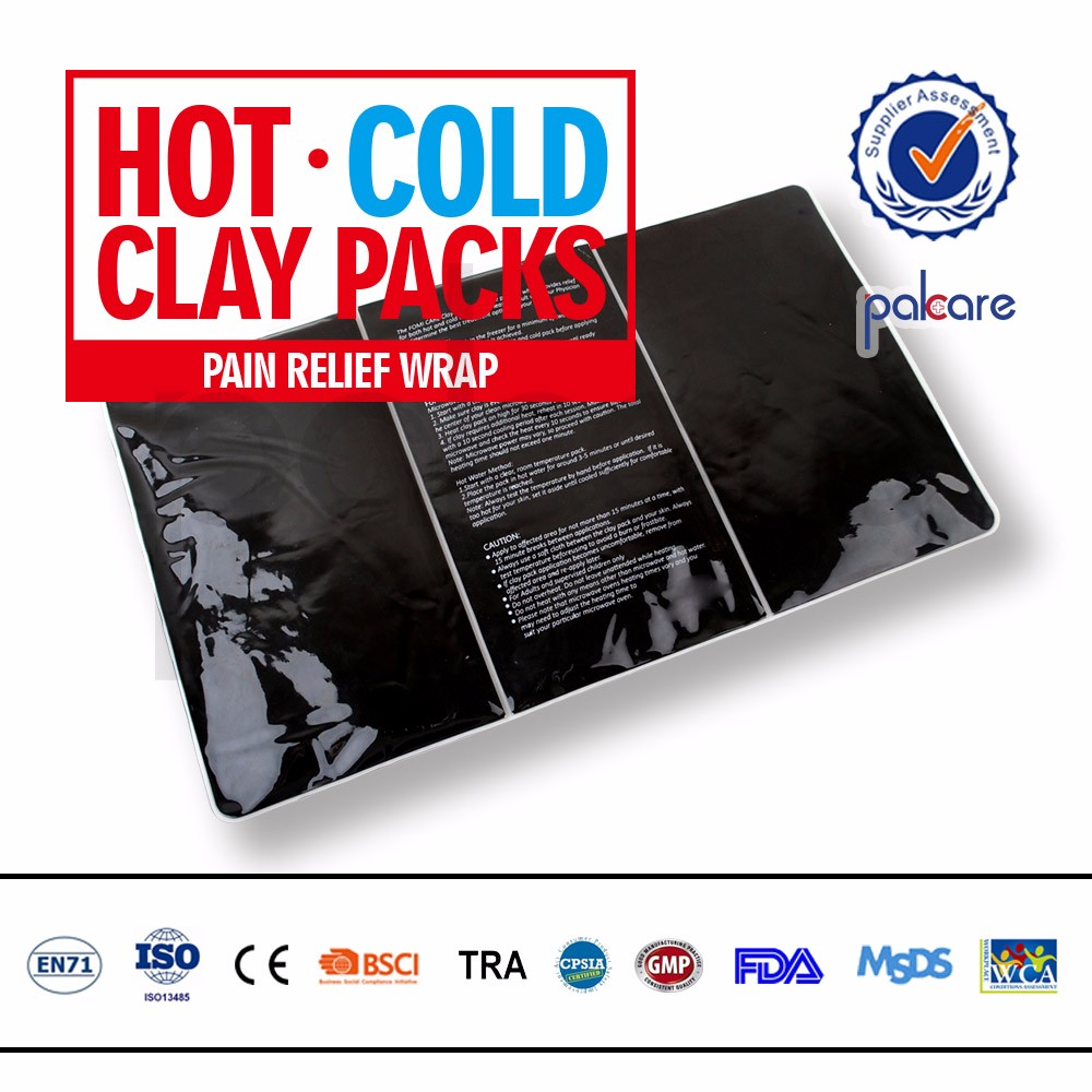 Reusable nature Clay hot cold pack for medical use