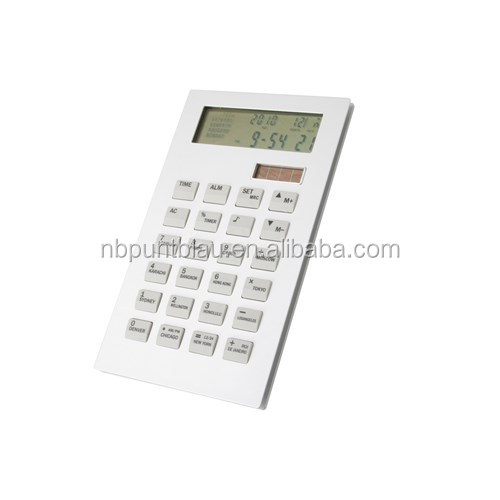 Hot plastic electronic digital calculator with clock function