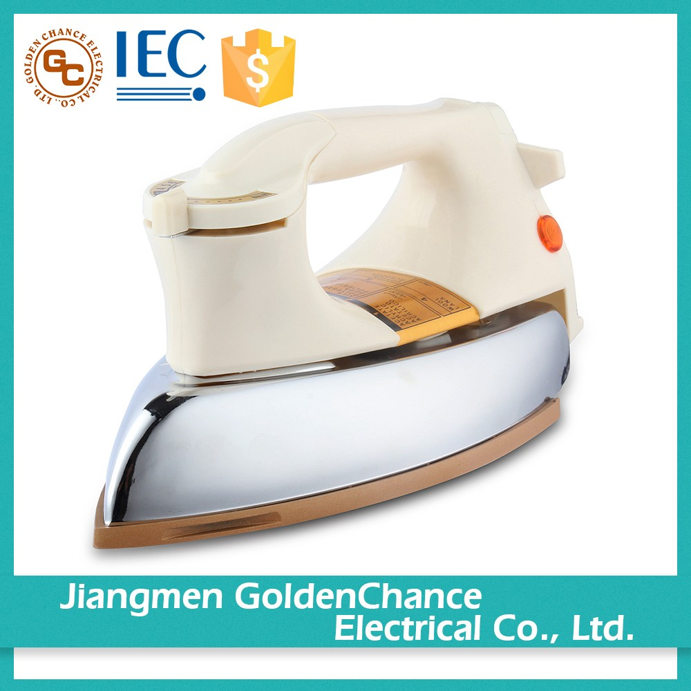 Quality Assured Teflon Soleplate 1000W Heavy Dry Iron
