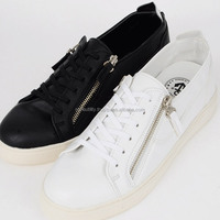 ssd01267 side zip-up flast lace sneakers Made in korea