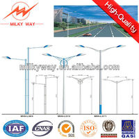 decorative double arm street lighting pole