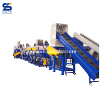 hdpe ldpe pe eps pet pp film friction waste scrap plastic crusher washer dryer