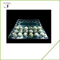 18 holes clear disposable plastic quail egg packaging tray/box