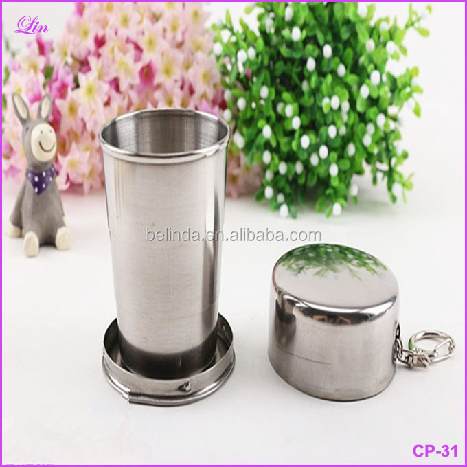 Cup Stainless Steel Cup Portable Travel Folding Collapsible Mugs Telescopic Folded Cup