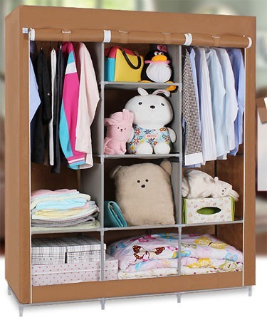 bedroom furniture Portable fold non-woven fabric wardrobe/clothes storage cabinet