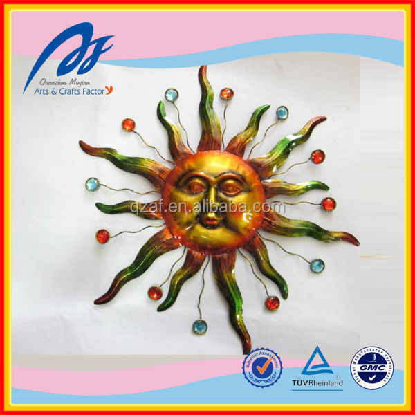 2014 Minjian New Innovative Design Wall Metal Crafts,Sun Image Metal Crafts,Metal Crafts