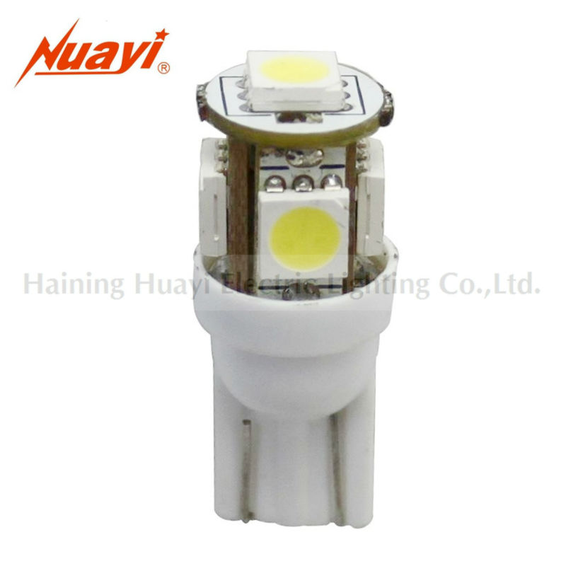 Auto dome light bulb T10 WEDGE - 5SMD, Auto smd led lamp