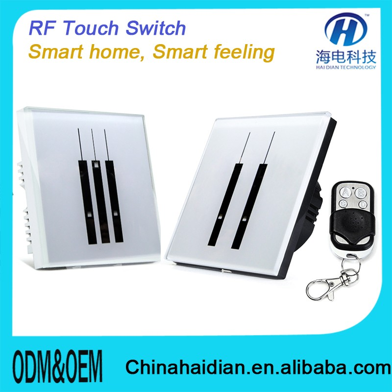 2016 Hot Selling RF WIFI Remote Control touch witch for home autamation