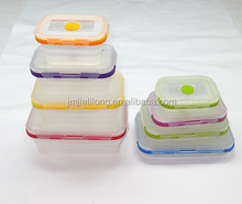 Silicone collapsible transparent lunch box