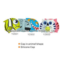 Children Shark swimming caps funny swim caps swimming cap silicone
