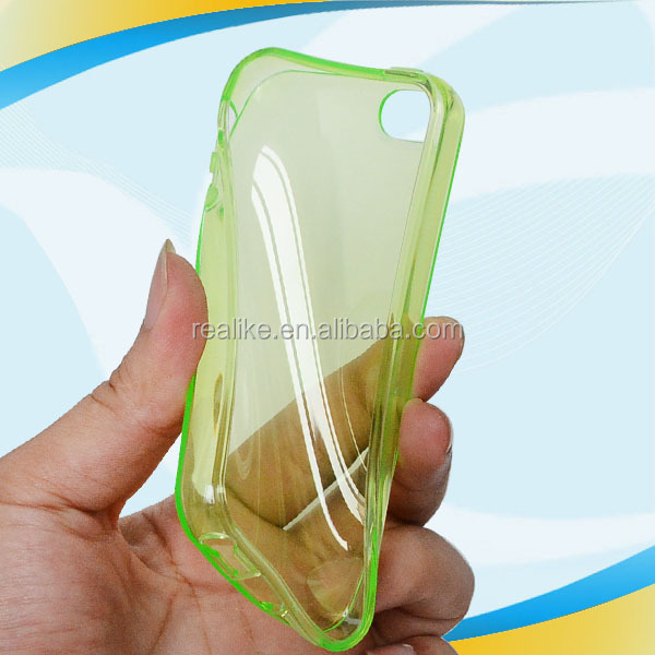 orange clear combo tpu pc glow case for iphone 5 5s ,Premium image